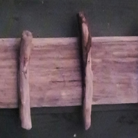 Driftwood rustic & natural coat, key, dog lead clothes rack with five hooks.