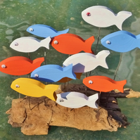 DRIFTWOOD FISH TABLE ORNAMENT MADE FROM NATURAL DRIFTWOOD FROM CORNWALL