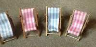 Wooden deck chair for table name place cards for wedding or birthday party.