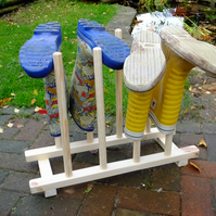 Wellington boot rack or stand in flat pack kit form for up to 4 pairs of wellies