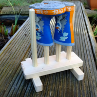Childrens wellington boot rack or stand in flat pack kit form 4 pairs of wellies