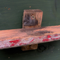 Little red driftwood shelf for seaside cottage beach hut chalet
