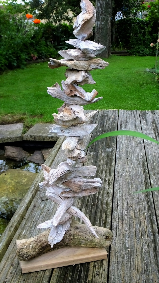 "24"" Driftwood tree decoration for Christmas or all year round, hanging jewellery"