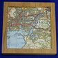 Coaster place mat for cup or mug Ordnance Survey map of Plymouth and Sound