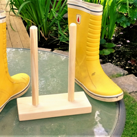 Wellington boot rack or stand for a single pair of wellies for hall porch shed