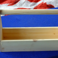 Wooden trug or flower pot holder for window sill veranda or balcony