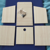 White coloured wild garden bird nesting box in kit form, self assembly kit.