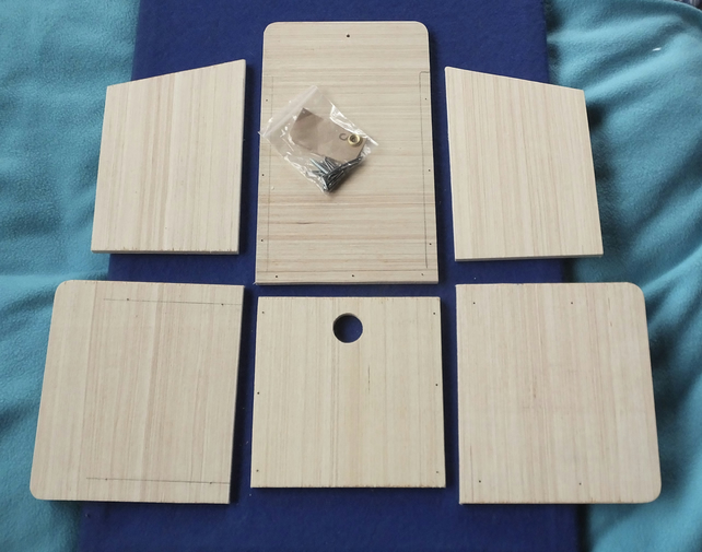 Wild garden bird nesting box in kit form to build yourself, self assembly kit.