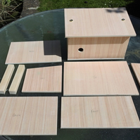 Solitary bee shelter or house for overwintering a garden bumble bee in kit form.