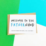 Fatherhood New Baby Card