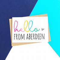 Personalised Hello Card