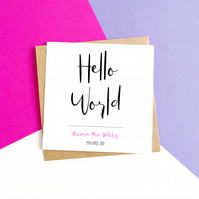 Personalised New Baby Card - Pink