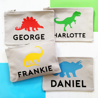 Personalised Dinosaur Storage Bag