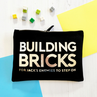 Personalised Building Bricks Storage Bag