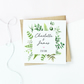 Personalised Botanical Engagement Card - Square