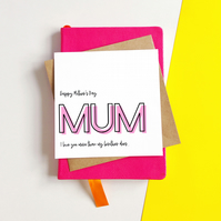 Love You More Mother's Day Card