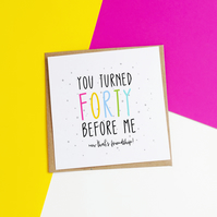 That's Friendship Funny Age Birthday Card