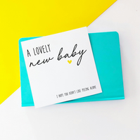 Chubby Cheeks New Baby Card