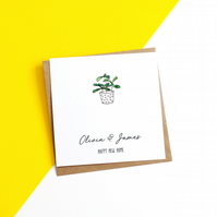 Personalised Plant New Home Card