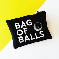Funny Bag Of Balls Golf Storage Bag