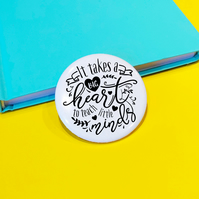 Big Heart Teacher Pin Badge