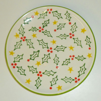 Ceramic Holly Plate