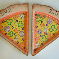 Hand Painted Personalised Pizza Plate
