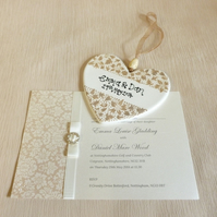 Personalised Wedding Heart Hanger