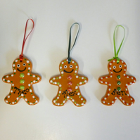 Personalised Ceramic Gingerbread Man Decoration