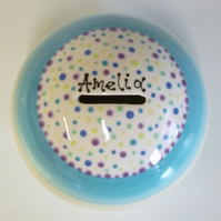 Personalised Hand Painted Money Bank