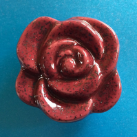 Ceramic Rose Brooch