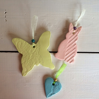 Set of 3 Handmade Ceramic Hangers