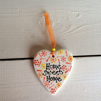 'Home Sweet Home' Ceramic Heart Hanger