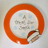 "Personalised Ceramic ""Treat for Santa"" Plate"