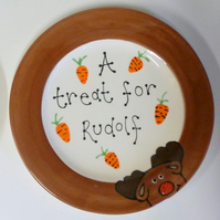 "Personalised Ceramic ""Treat for Rudolf"" Plate"