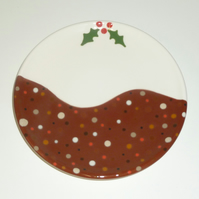 Ceramic Christmas Pudding Plate
