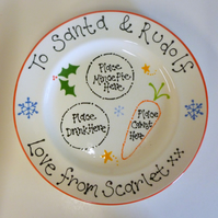 Personalised Ceramic Christmas Eve Plate