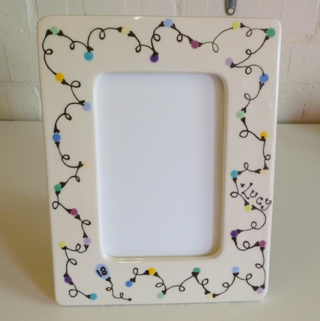 Personalised Ceramic Photo Frame