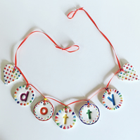 Personalised Handmade Ceramic Name Bunting