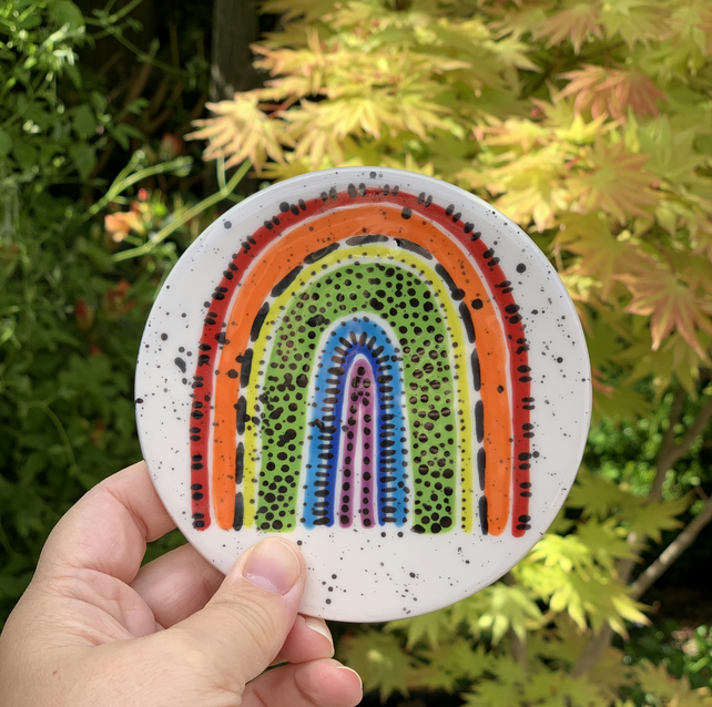 Ceramic Rainbow Coaster