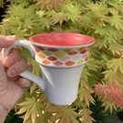 Hand Painted Fluted Mug