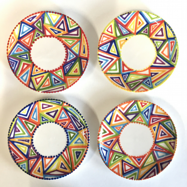 Hand Painted Mini Rainbow Tapas Plate