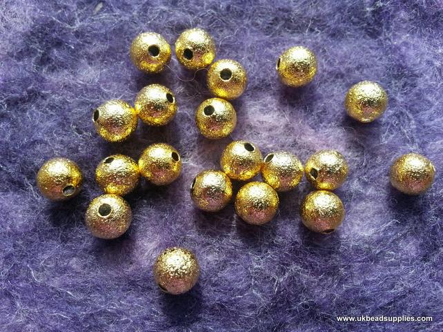 Gold Stardust Spacer Metal Beads 6mm x30
