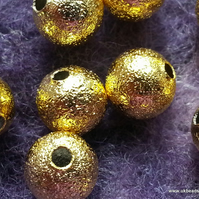Gold Stardust Spacer Metal Beads 8mm x20