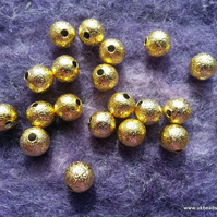 Gold Stardust Spacer Metal Beads 4mm x50