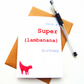 Funny Red Superlambanana Birthday Card - Liverpool Card - Free UK Postage