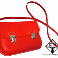 Moulded Leather Satchel Handbag (Any colour available)