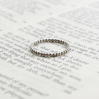 Silver stacking ring ball design