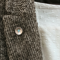Silver button brooch (my bouton oublié)