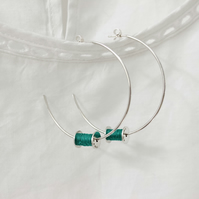 Cotton reel hoop earrings, bobbins, sewing earrings